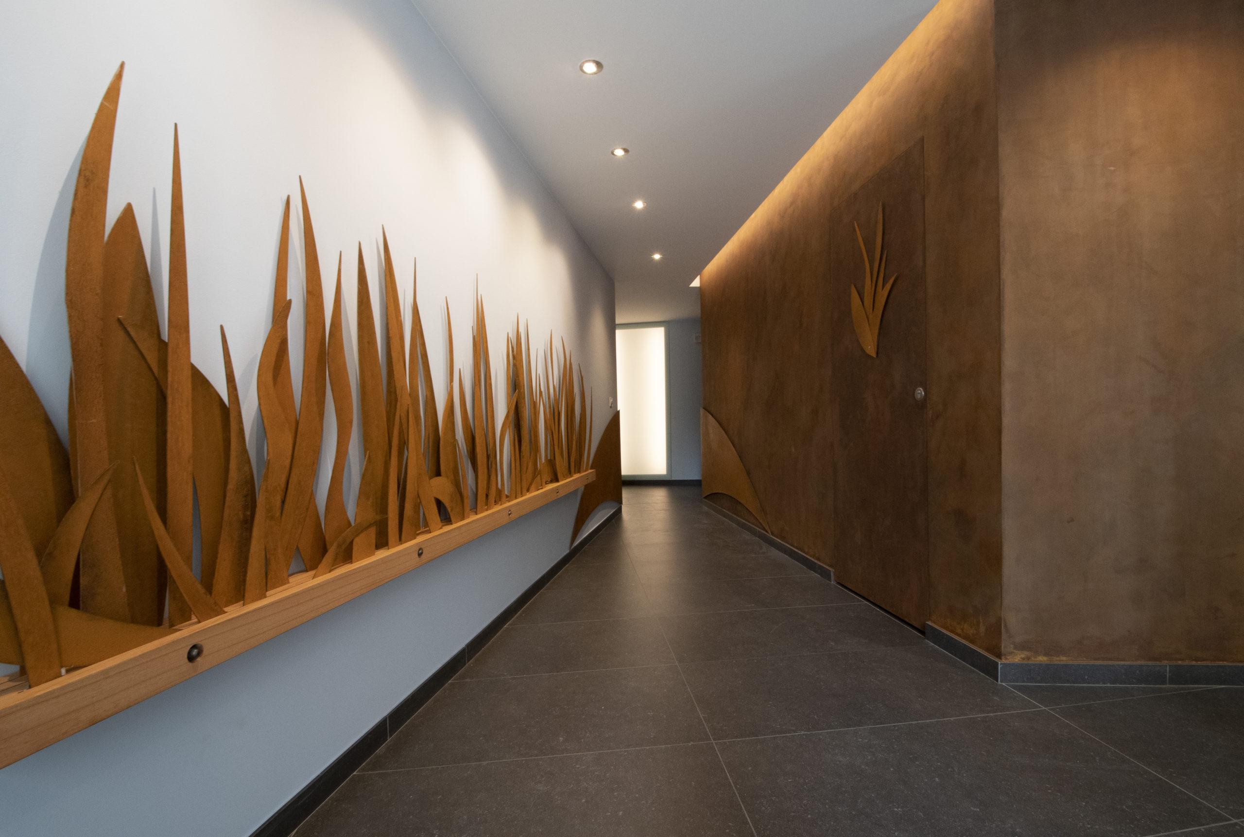 Acier Corten en sculpture et patines murales